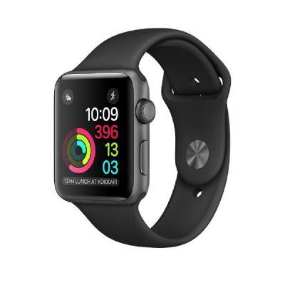 Apple  Watch Series 2 42mm Aluminiumgehäuse Space Grau mit Sportarmband Schwarz