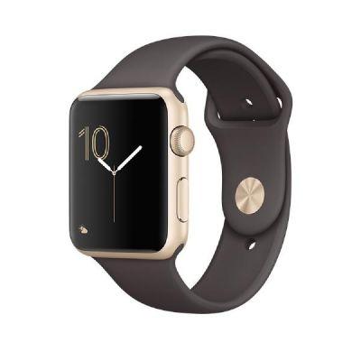 Apple  Watch Series 1 42mm Aluminiumgehäuse Gold mit Sportarmband Kakao