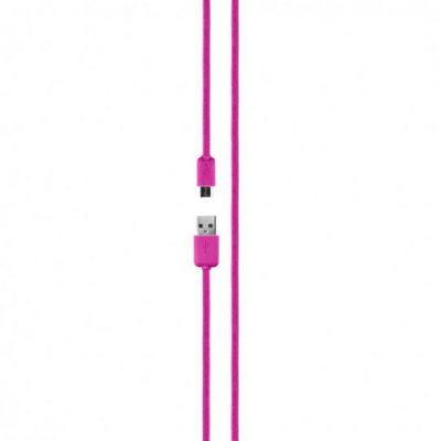 xqisit Charge  und  Sync Cotton Micro-USB Kabel pink - Preisvergleich