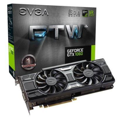 Evga EVGA GeForce GTX 1060 FTW+ ACX 3.0 6GB GDDR5 DVI/HDMI/3xDP Grafikkarte