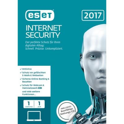 ESET  Internet Security 2017 Edition 1 User (FFP)
