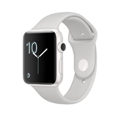 Apple  Watch Edition Series 2 42mm Keramikgehäuse Weiß mit Sportarmband Wolke