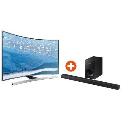 Bundle: Samsung 4K UE55KU6649 138cm 55´´ UHD Curved Fernseher + Samsung Soundbar