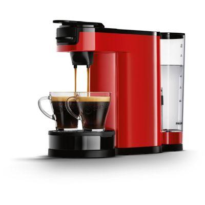 Senseo Philips HD7892/80  Switch 2-in-1 Kaffeemaschine für Filter und Pads, rot