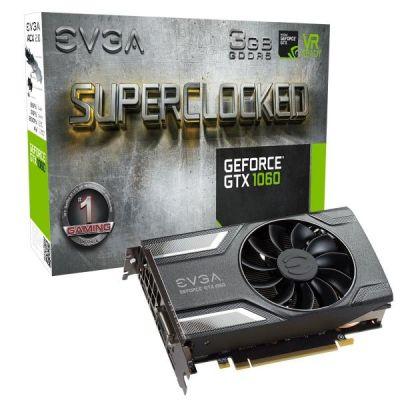 Evga EVGA GeForce GTX 1060 SC Gaming ACX 2.0 3GB GDDR5 DVI/HDMI/3xDP Grafikkarte