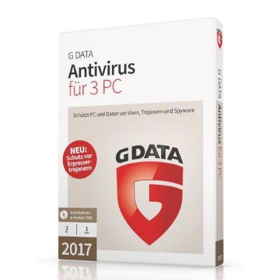 G Data  AntiVirus 17.5  3 PC Windows - CD-ROM