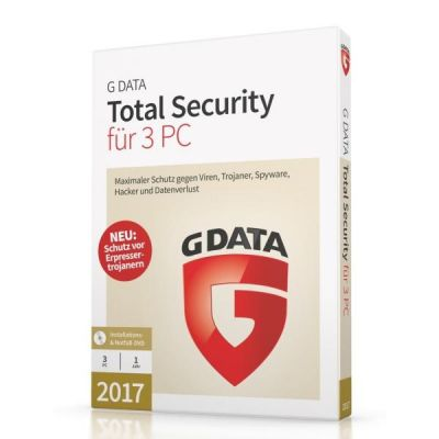 G Data  Total Security 17.5  3 PC Windows - CD-ROM