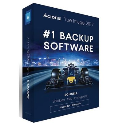 Acronis  True Image 2017 1 Computer - Minibox