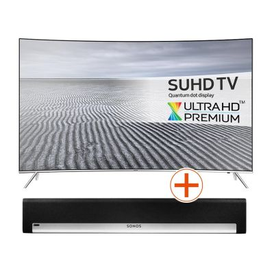 4K UE55KS7590 138cm 55´´ UHD Curved Fernseher + Sonos PLAYBAR