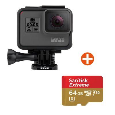GoPro HERO5 Black Action Cam mit 64 GB Speicherkarte - Preisvergleich
