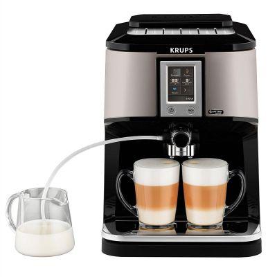 Krups EA 880E One-Touch-Kaffeevollautomat Quattro Force Silber/Schwarz