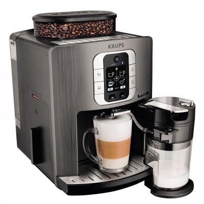 Krups EA 860E One-Touch-Cappuccino-System Latte Smart Silver Titanium/Schwarz
