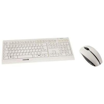 Cherry  B.UNLIMITED AES - Tastatur-und-Maus-Set - 2.4 GHz - Deutschland - Hellgrau