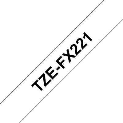 Brother TZe-FX221 Schriftband 9mm x 8m schwarz auf weiss Flexi-Tape - Preisvergleich