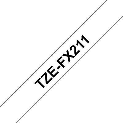 Brother TZe-FX211 Schriftband 6mm x 8m schwarz auf weiss Flexi-Tape - Preisvergleich