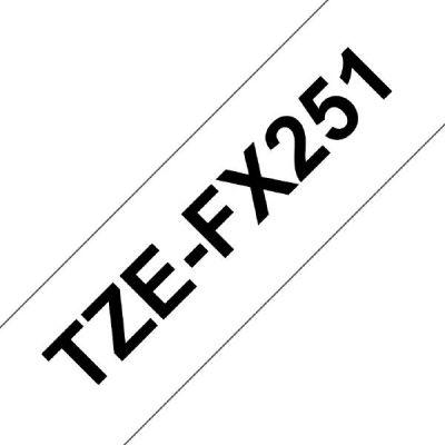 Brother TZe-FX251 Schriftband, 24mm x 8m, schwarz auf weiss, Flexi-Tape - Preisvergleich