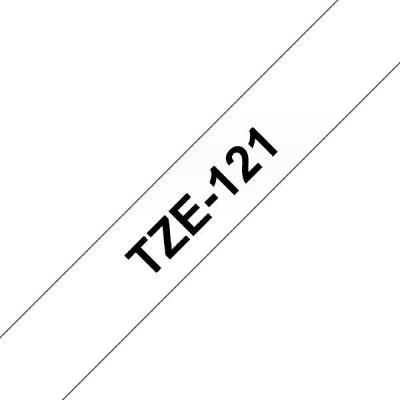 Brother TZe-121 Schriftband schwarz auf farblos 9mm x 8m P-touch selbstklebend - Preisvergleich