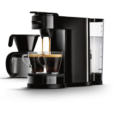 Philips HD7892/60 Senseo Switch 2-in-1 Kaffeemaschine für Filter und Pads, schw