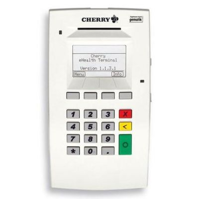 Cherry CHERRY eHealth Terminal ST-1503 - SmartCard Lese-/Schreibgerät - USB / Ethernet - Grau, weiß