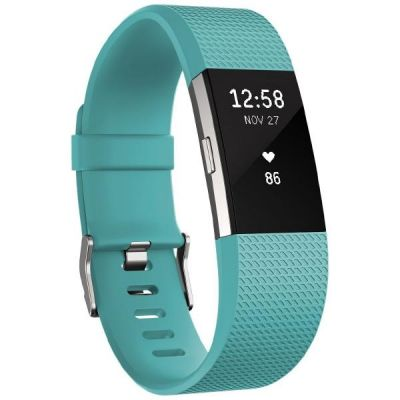 Fitbit Charge 2 Armband zur Herzfrequenz- und Fitnessaufzeichnung türkis small
