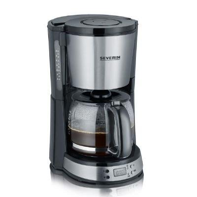 Severin KA 4192 SELECT Kaffeeautomat mit Timer gebürsteter Edelstahl-Schwarz