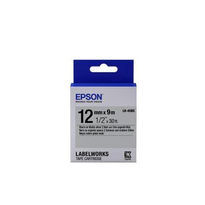 Epson C53S654017 Schriftband LK-4SBE klebend 12mmx9m schwarz matt / silber matt - Preisvergleich