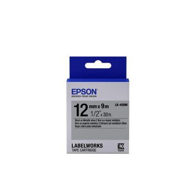Epson C53S654019 Schriftband LK-4SBM klebend 12mmx9m schwarz/silber glänzend - Preisvergleich