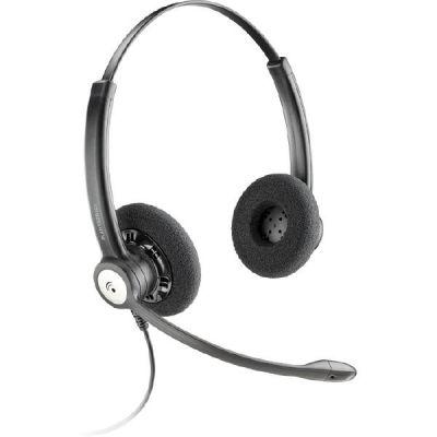 Plantronics Entera HW121N/A Binaurales Noise Cancelling Headset Kopfbügelmodell - Preisvergleich