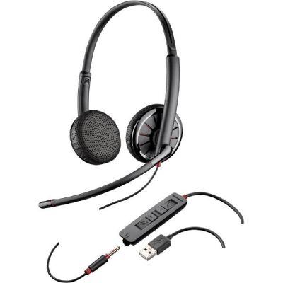 Plantronics Blackwire C325.1 Binaurales Headset wahlw. Klinkenstecker/USB - Preisvergleich