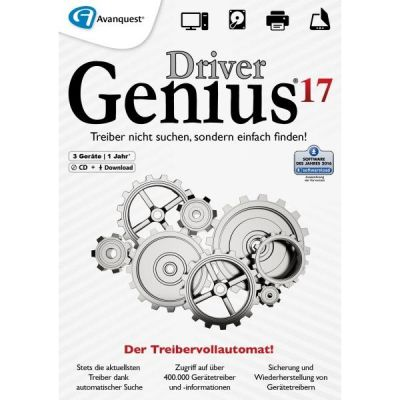 Avanquest  Driver Genius 17 (PC Win) 1 Jahr DE (Download)