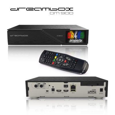 Dreambox  DM900 4K UHD DVB-C/T2HD-Receiver mit Festplatte 1TB