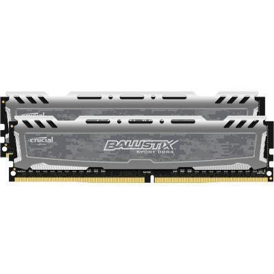 Ballistix 16GB (2x8GB)  Sport LT Grau DDR4-2666 CL16 (16-18-18) RAM Kit