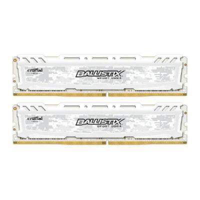 Ballistix 16GB (2x8GB)  Sport LT Weiss DDR4-2666 CL16 (16-18-18) RAM Kit