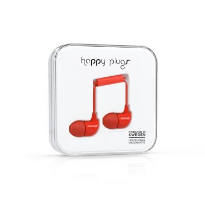 happy Plugs Happy Plugs 7716  In-Ear-Kopfhörer Rot