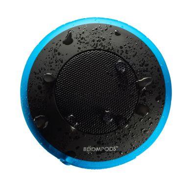 BOOMPODS Boompods Aquapod blau portabler Bluetooth-Lautsprecher, wasserdicht, Halter
