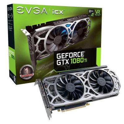 EVGA GeForce GTX 1080Ti SC2 Gaming 11GB GDDR5X Grafikkarte DVI/HDMI/3xDP