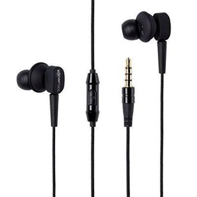 BOOMPODS Boompods Earbuds schwarz In-Ear Kopfhörer mit Kabelfernbedienung