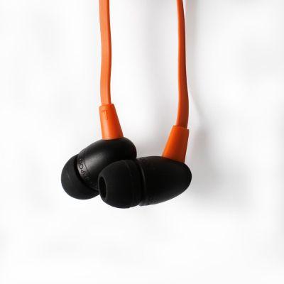 BOOMPODS Boompods Tuffbuds orange In-Ear Kopfhörer mit Kabelfernbedienung