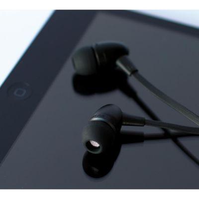 BOOMPODS Boompods Tuffbuds schwarz In-Ear Kopfhörer mit Kabelfernbedienung