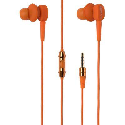BOOMPODS Boompods Earbuds orange In-Ear Kopfhörer mit Kabelfernbedienung