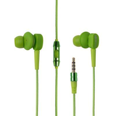 BOOMPODS Boompods Earbuds grün In-Ear Kopfhörer mit Kabelfernbedienung