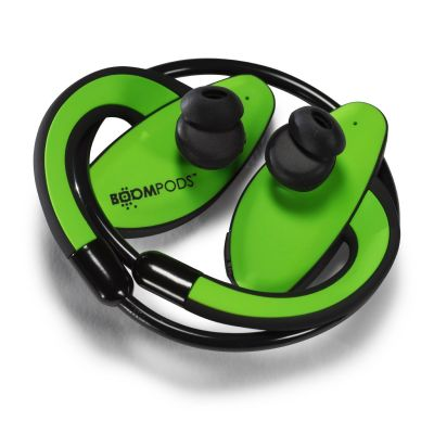 BOOMPODS Boompods Sportpods grün Over-Ear Ohrbügel Kopfhörer Kabel/Bluetooth