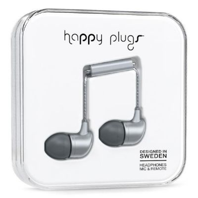 happy Plugs Happy Plugs7834 In-Ear-Kopfhörer matt Space Grau Deluxe