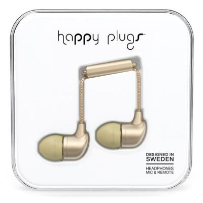 happy Plugs Happy Plugs 7832 In-Ear-Kopfhörer matt Champagne Deluxe