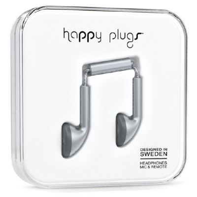 happy Plugs Happy Plugs 7833 Earbud matt Space Grau Deluxe Kopfhörer