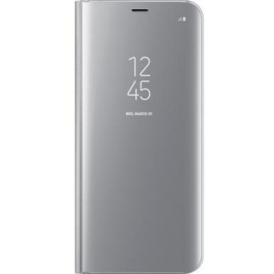 Samsung EF-ZG955 Clear View Standing Cover für Galaxy S8+ silber