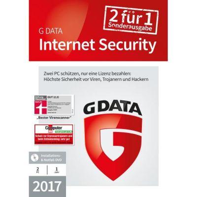 G Data G DATA Internet Security 2017 2 PC 1 Jahr Sonderedition Minibox