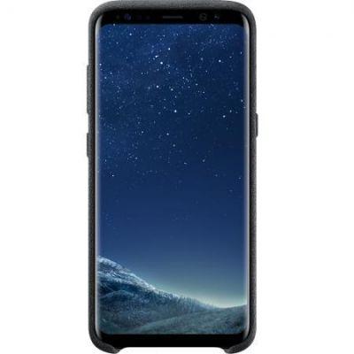Samsung EF-XG955 Alcantara Cover für Galaxy S8+ silber-grau