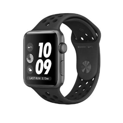 Apple  Watch Nike+ 38mm Aluminiumgehäuse Space Grau mit Nike Sportarmband Schwarz