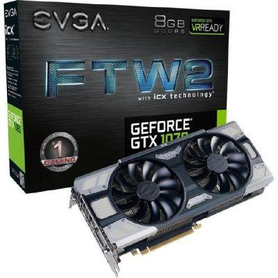 Evga EVGA GeForce GTX 1070 FTW2 Gaming iCX 8GB GDDR5 DVI/HDMI/3xDP Grafikkarte